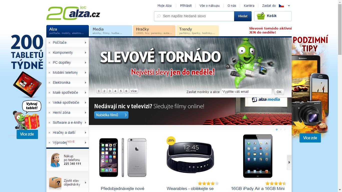 Náhled webu Alza