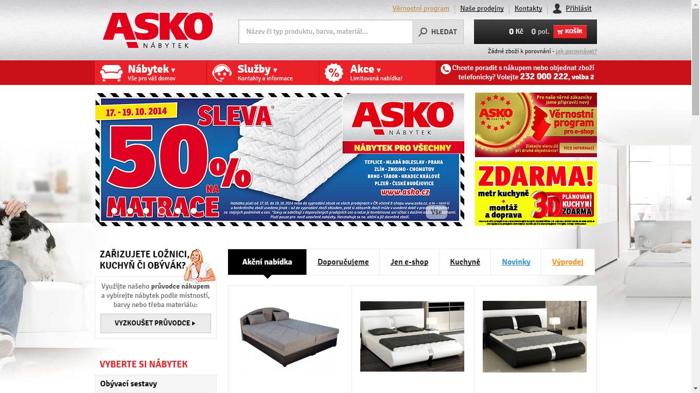 Náhled webu Asko nábytek