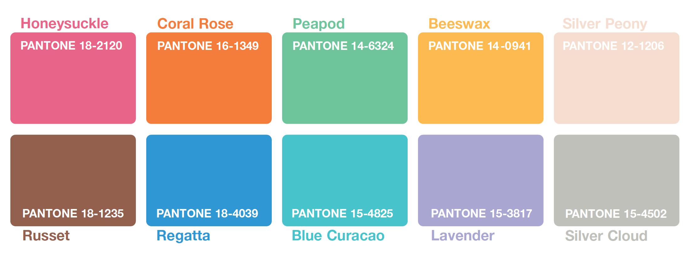 Modní barvy PANTONE 2011