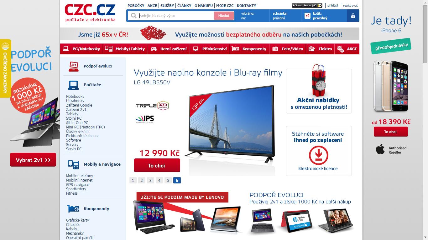 Náhled webu CZC