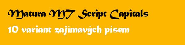 10 variant zajímavých fontů