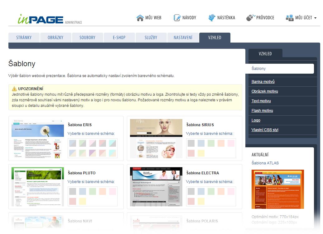 Studie redakčního systému inPage