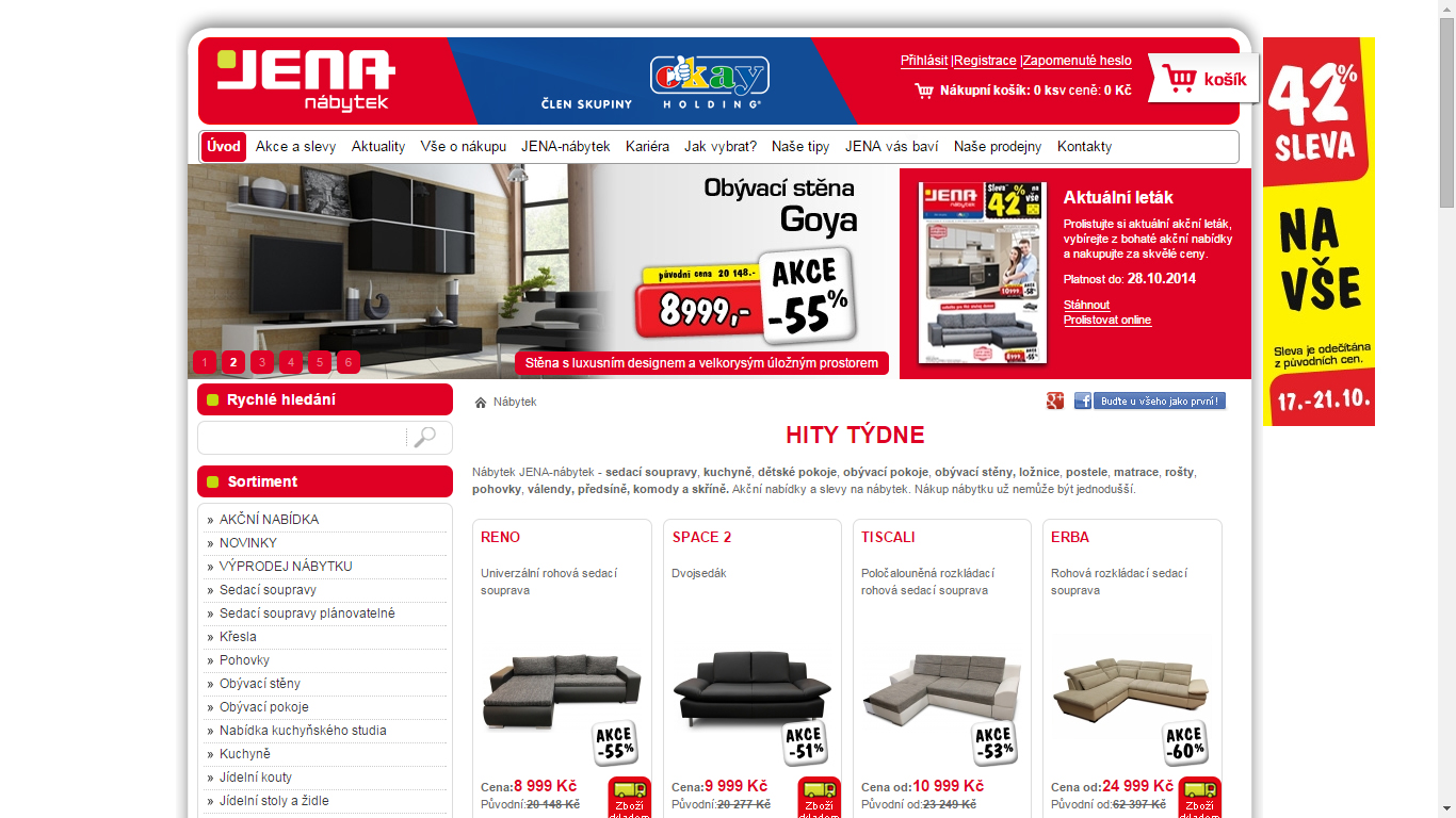 Náhled webu Jena nábytek
