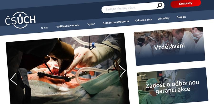 Nový web pro Českou společnost úrazové chirurgie