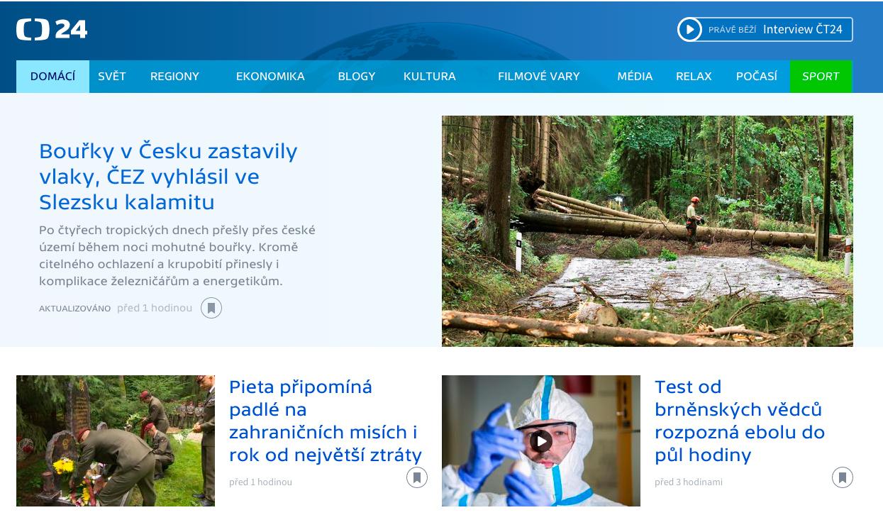 Nový design webu ČT24