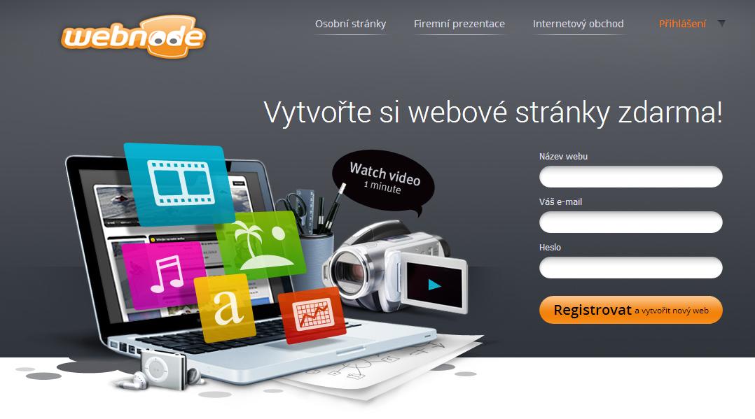 Webové stránky zdarmaWebnode